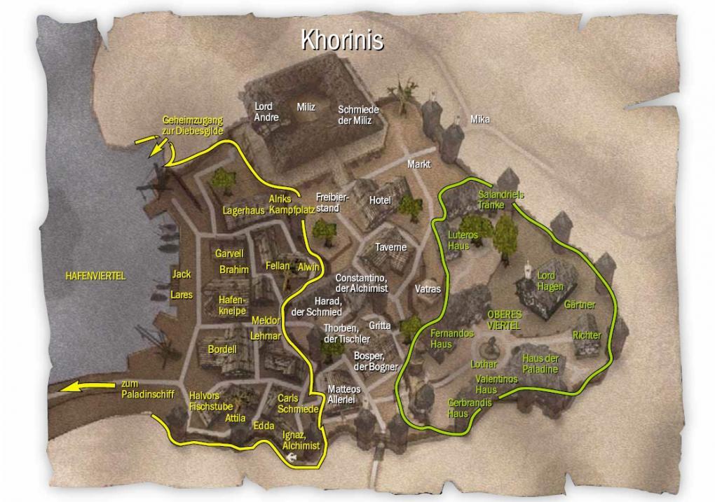 gothic 2 karte Gothic 2   Komplettlösung des Rollenspiels von Piranha Bytes