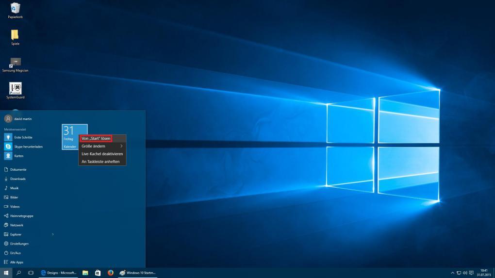 spiel im vollbildmodus starten windows 10