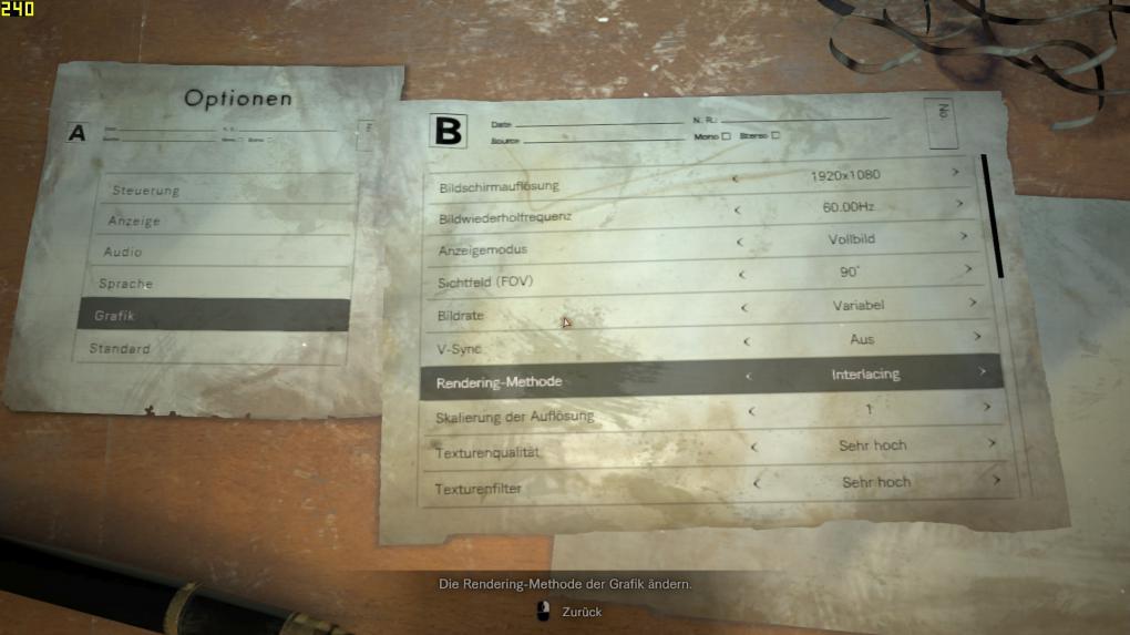 Resident Evil 7 Biohazard: Tuning für höhere Bildraten & bessere Grafik