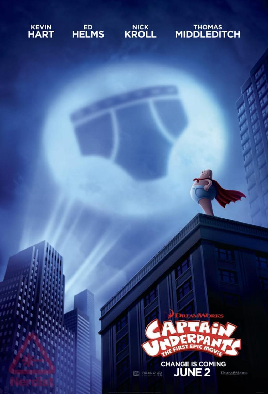 Captain Underpants Auf Dem Ersten Poster Macht Der Feinripp