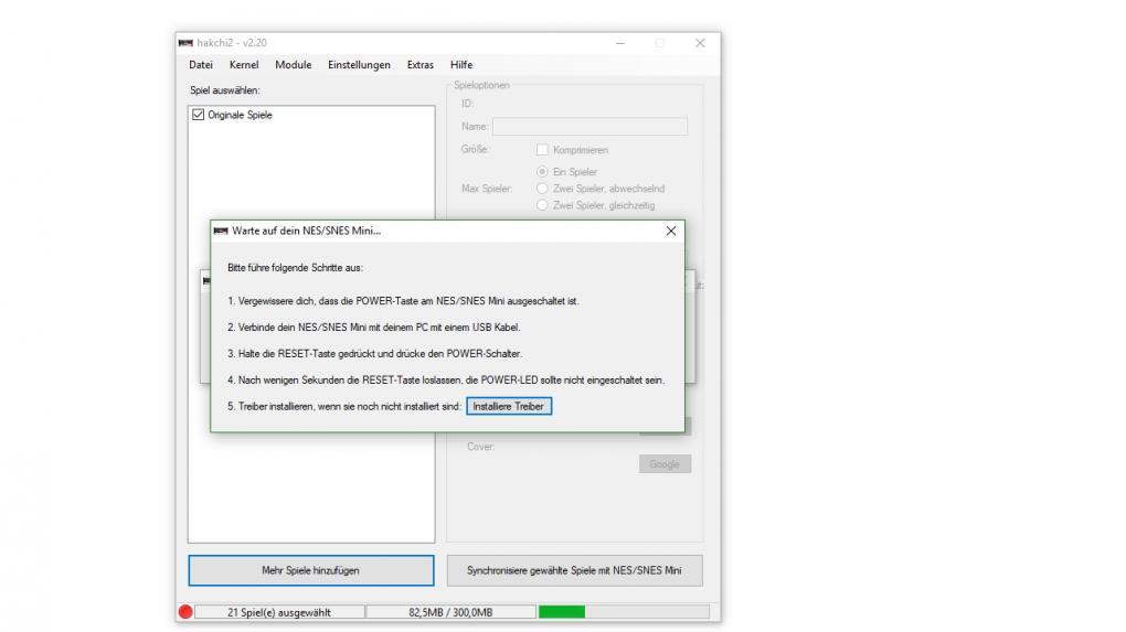 SNES mini: Eigene Spiele installieren mit der Hakchi2