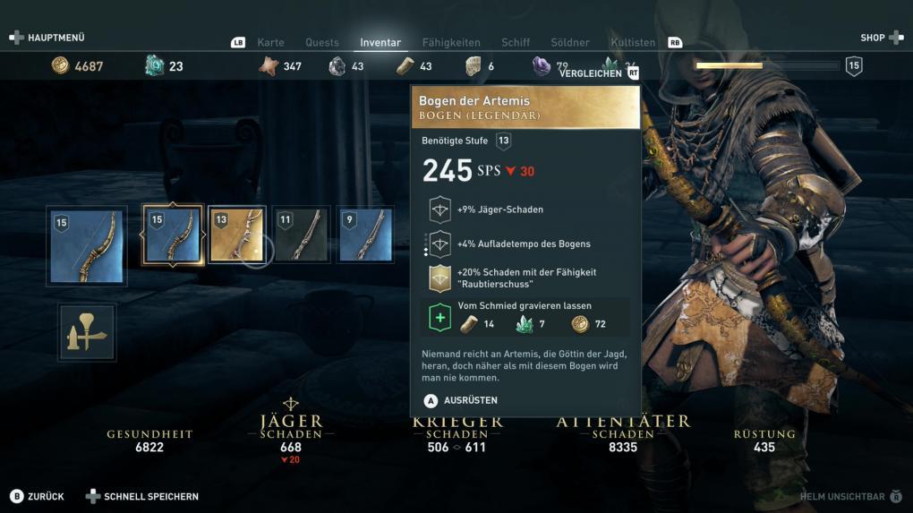 assassins creed odyssey legendäre rüstungen