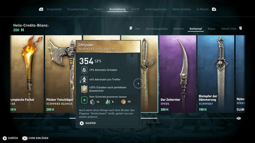 Assassin's Creed Odyssey: Die besten Waffen und Rüstungen finden