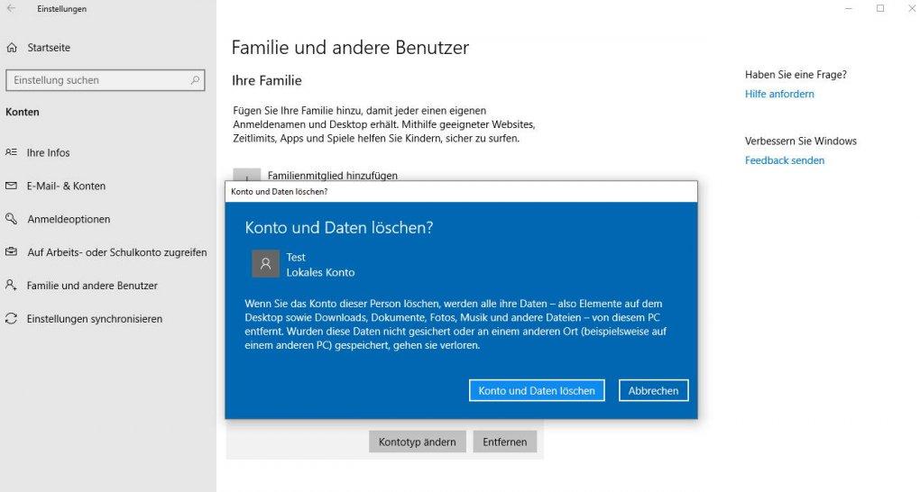 Ändern benutzernamen windows 10 Benutzernamen unter