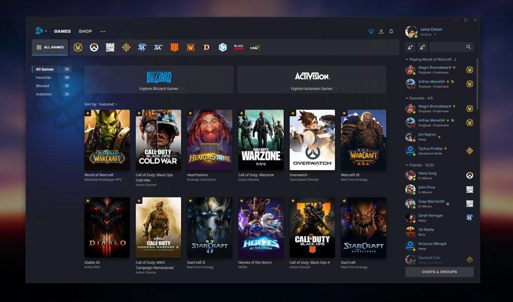 Screenshots show the new design of Blizzard's Battle.net launcher. (2)