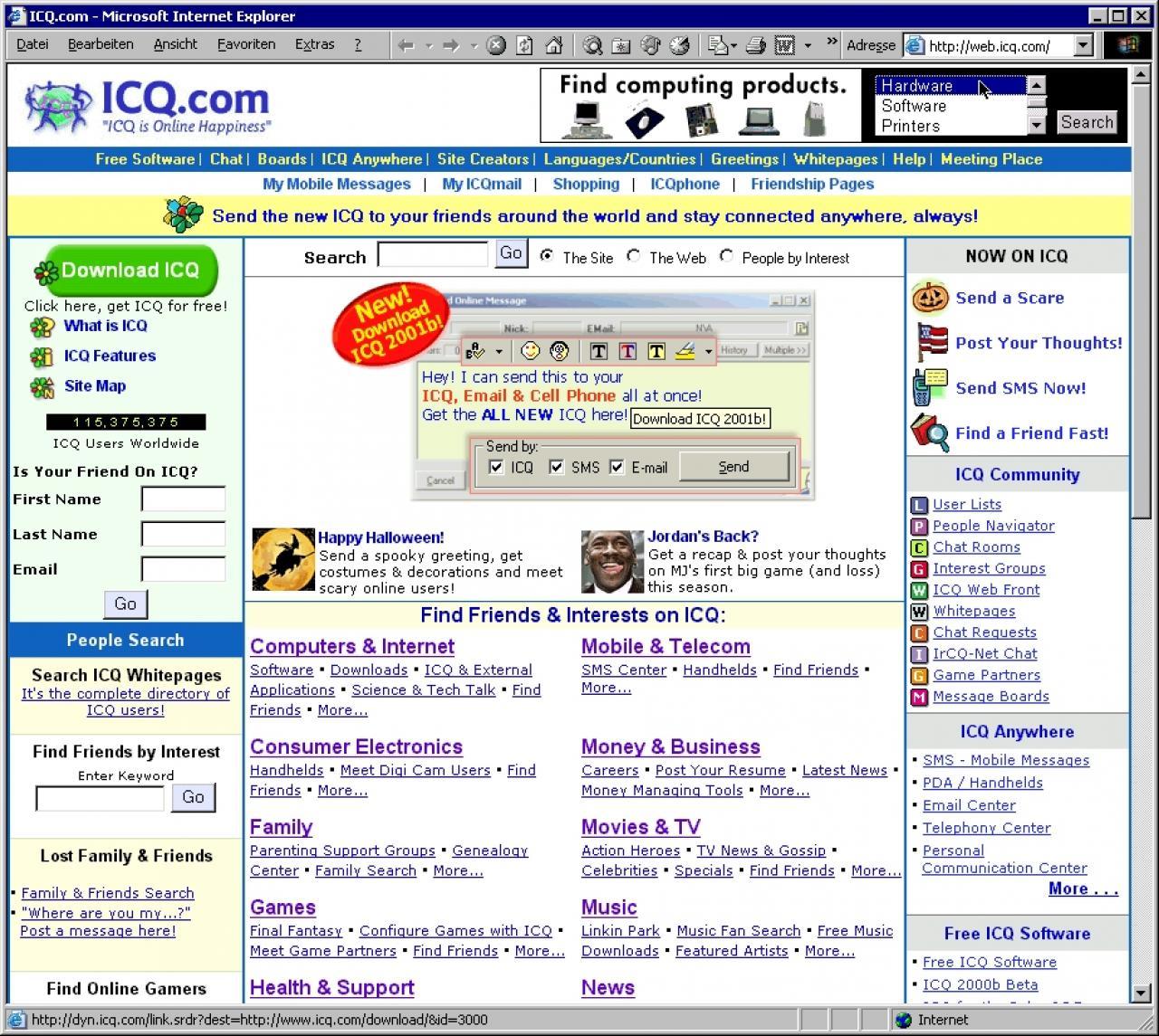 ICQ 2001 Beta: Neue Version des Messengers online