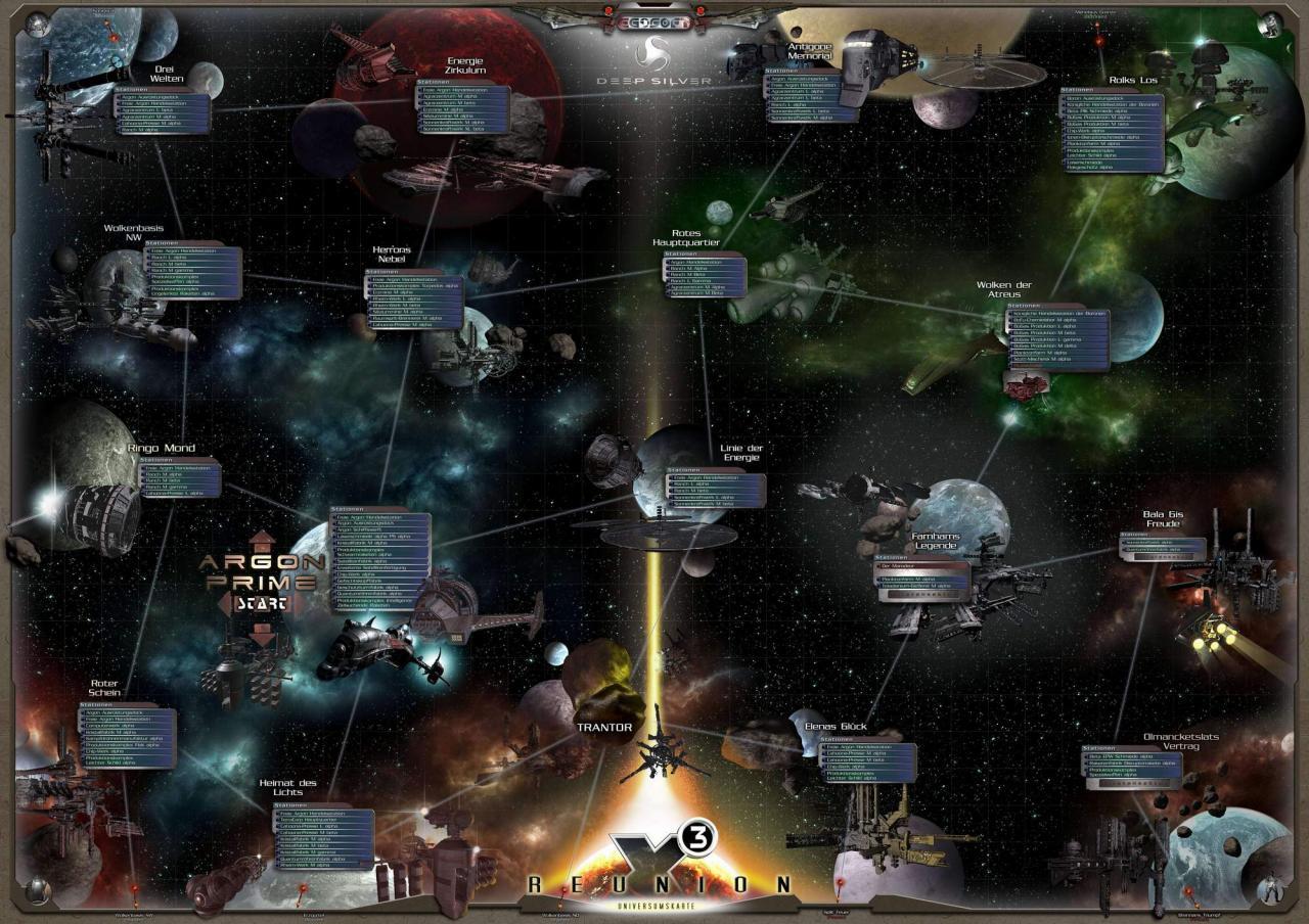 X3 Reunion Karte.Riesige Sternenkarte Als Starthilfe