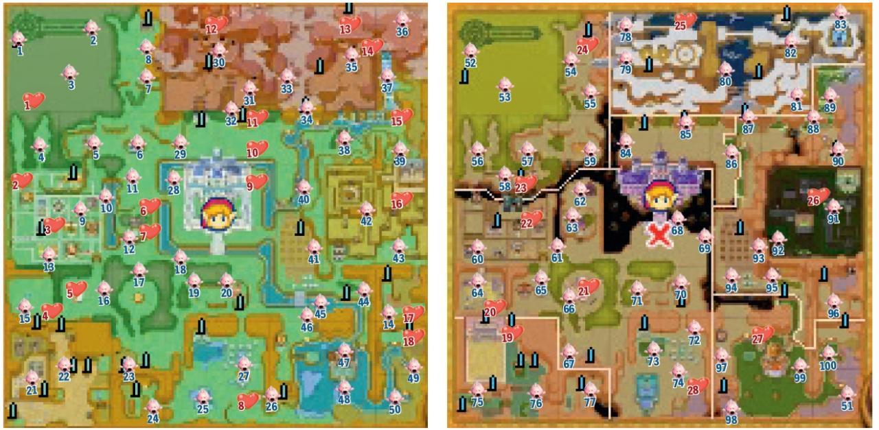 Zelda: A Link Between Worlds - Guide - Fundorte aller Herzteile