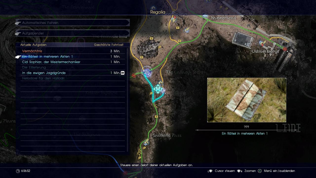 Final Fantasy 15 Königswaffen Karte.Final Fantasy 15 So Kommt Ihr Von A Nach B Alle Reisetipps