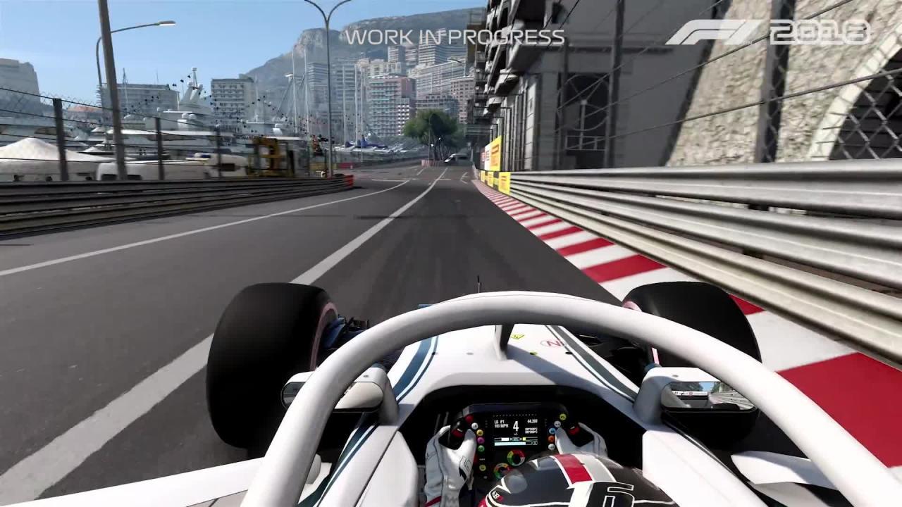F1 2018: Erstes Gameplay-Video zeigt eine Runde in Monaco