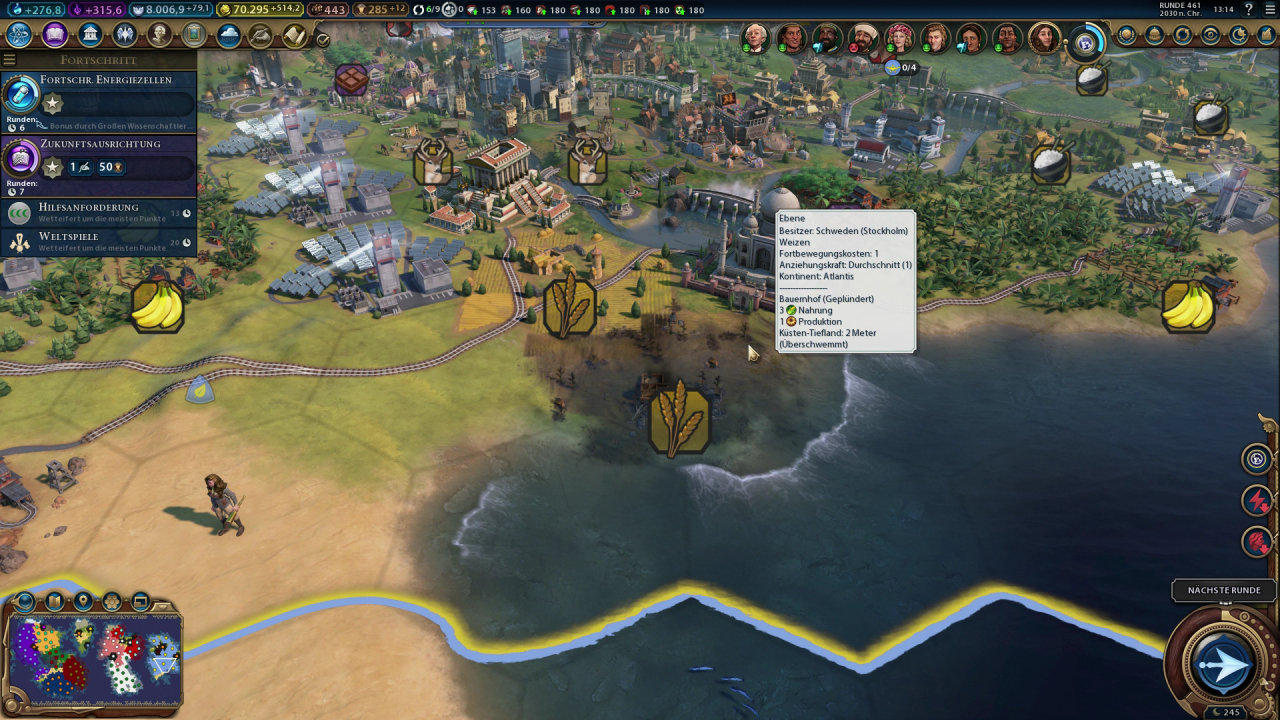 Civilization 6: Gathering storm in the test