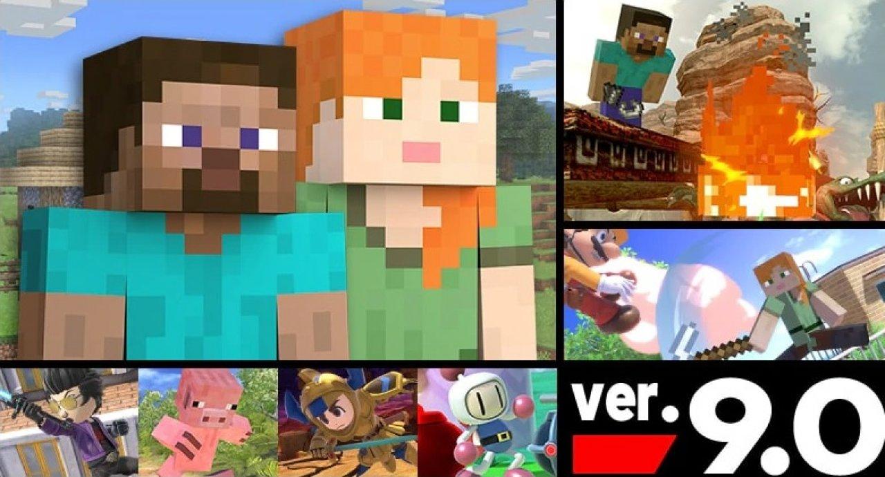 Super Smash Bros Ultimate Minecraft Dlc Ausprobiert
