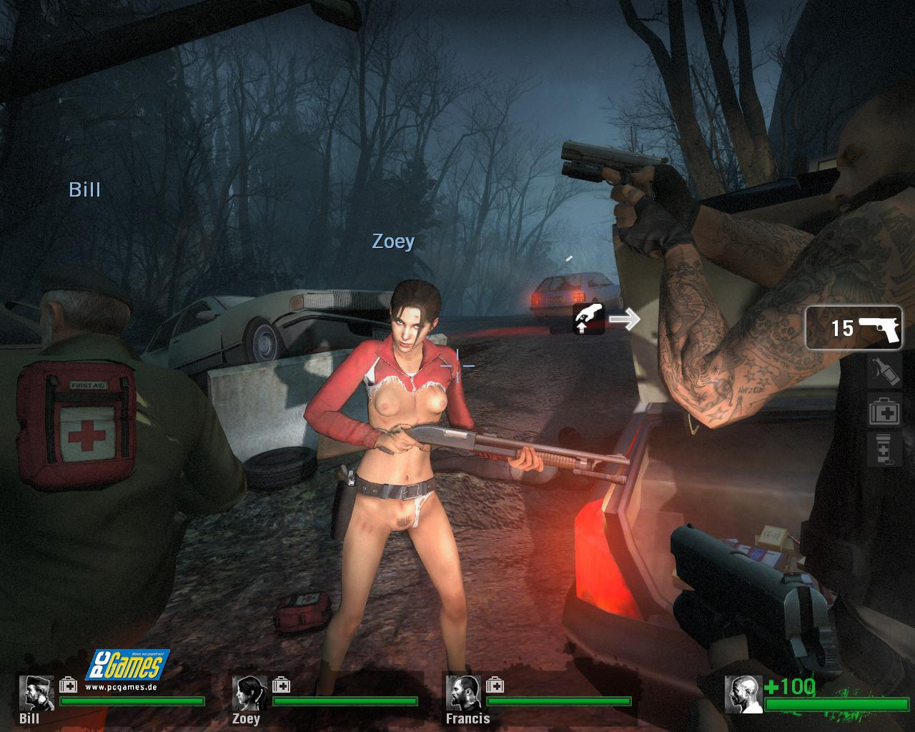 Naked zoey in l4d