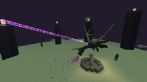 Enderdragon in Minecraft: Xbox 360 Edition - Erster Screenshot zeigt Enderdragon der 360-Version von Minecraft