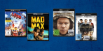 "4K Ultra HD Blu-ray-Cover von Warners ""The LEGO Movie"" und ""Mad Max: Fury Road"" sowie Fox' ""Der Marsianer - Rettet Mark Watney"" und ""Kingsman: The Secret Service""."