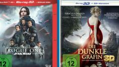 "Links: ""Rogue One - A Star Wars Story"" (2016) / Rechts: ""Die dunkle Gräfin"" (2015)"