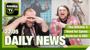 Video-Newsüberblick: Need for Speed, The Witcher 3, Rockstar - Games TV 24 Daily