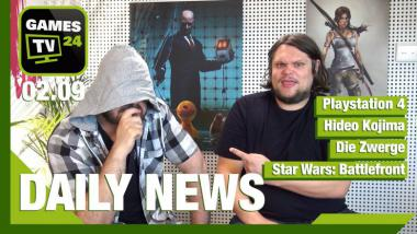 Video-Newsshow: Star Wars: Battlefront, Hideo Kojima, Die Zwerge und Playstation 4