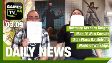 Video-Newsshow: Batman: Arkham Knight, Man O' War: Corsair, Star Wars: Battlefront