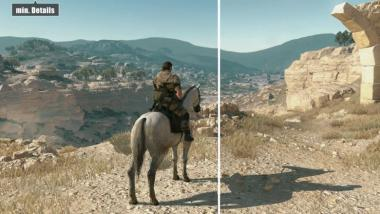 Metal Gear Solid 5: The Phantom Pain - Video-Grafikvergleich PC: Minimale vs. maximale Settings