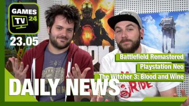 Battlefield Remastered, Playstation Neo, The Witcher 3: Blood and Wine - Video-News vom 23. Mai