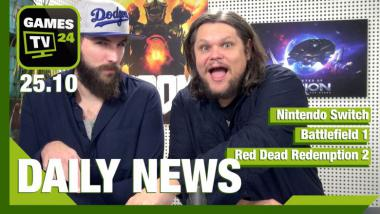 Nintendo Switch, Red Dead Redemption 2, Battlefield 1 - Video-News vom 25. Oktober