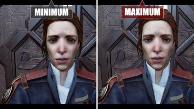 Dishonored 2: Video-Grafikvergleich PC - Min vs. Max