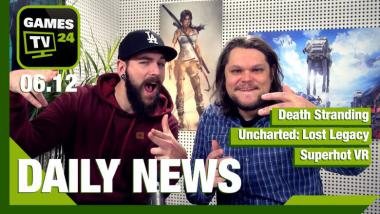 Death Stranding, Uncharted: Lost Legacy, Superhot VR: Video-News am 6. Dezember