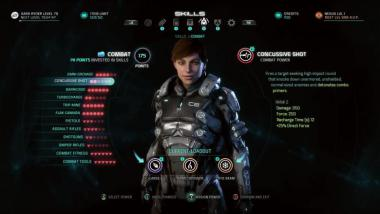 Mass Effect: Andromeda - Gameplay-Video zur Charakterentwicklung