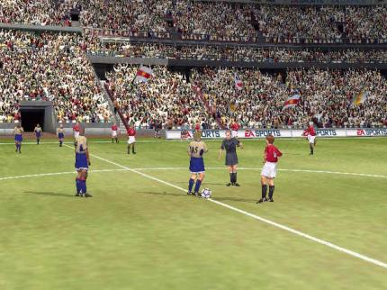 FIFA 2002 - in der Demo tritt Manchester United gegen Arsenal London an.