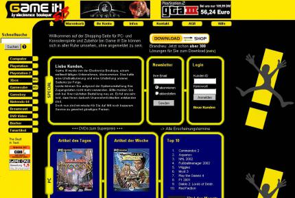 Die Game.it-Website