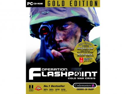 Die Operation Flashpoint Gold Edition in Großbritannien.