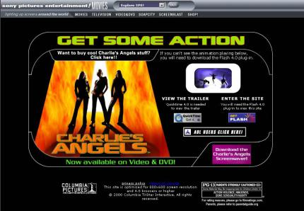Sonys Charlies Angels-Website.