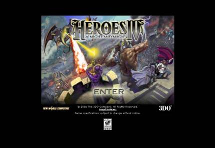 Heroes of Might and Magic 4 - die offizielle Website.