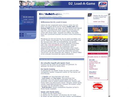 Die Website von D2_Load-A-Game