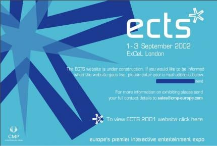 Die Website der ECTS 2002