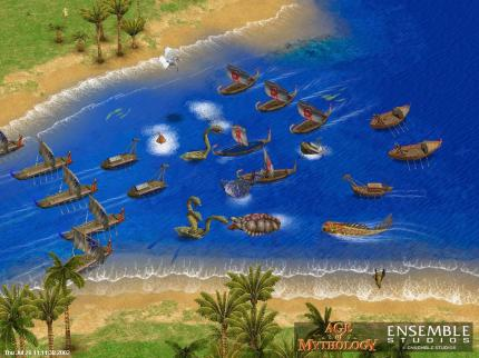 Nicht lustig: Eine Ruderpartie in Age of Mythology