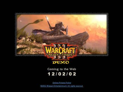 Blizzard kündigt die Warcraft 3-Demo an.