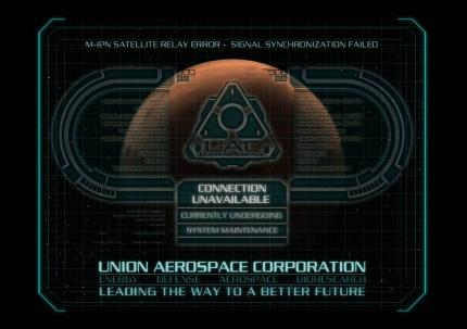 Die Website der 'Union Aerospace Corporation'.