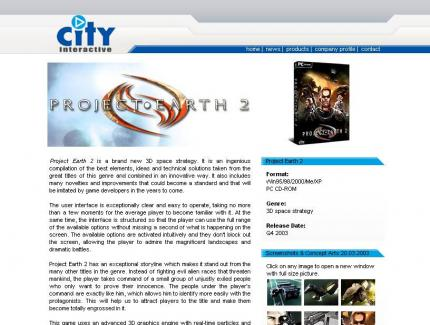 Die offizielle Website zu Project Earth 2.