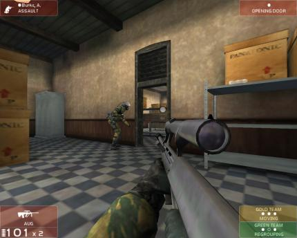 Ein Screenshot auf Rainbow Six 3: Raven Shield.