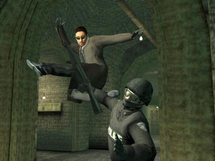 (Copyright by Warner Bros.) Enter the Matrix - das Spiel zum Kinofilm The Matrix Reloaded.