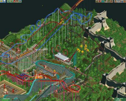 Rollercoaster Tycoon 2: Wacky Worlds - das nächste Add-on heißt Time Twister.