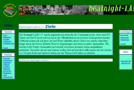 Die Beatnight-LAN-Website