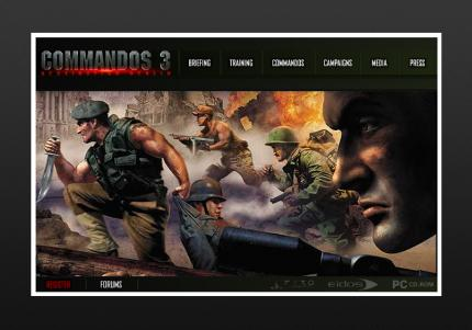 Die Commandos-3-Website.