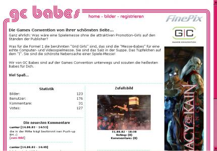 Die GC-Babes-Website