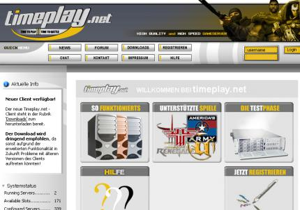 Die Timeplay-Website