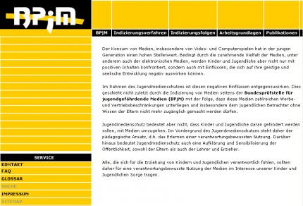 Die Website der PBjM