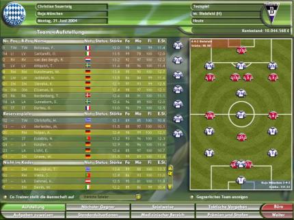 Kicker Manager 2004: Spielbare Demo