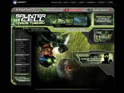 Splinter Cell: Chaos Theory: Webseite online